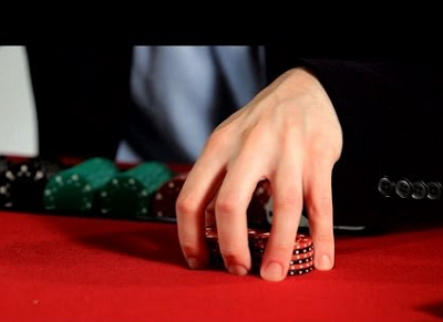 shuffling chips poker
